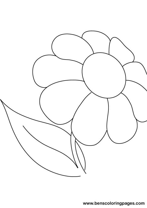 Daisy coloring picture print