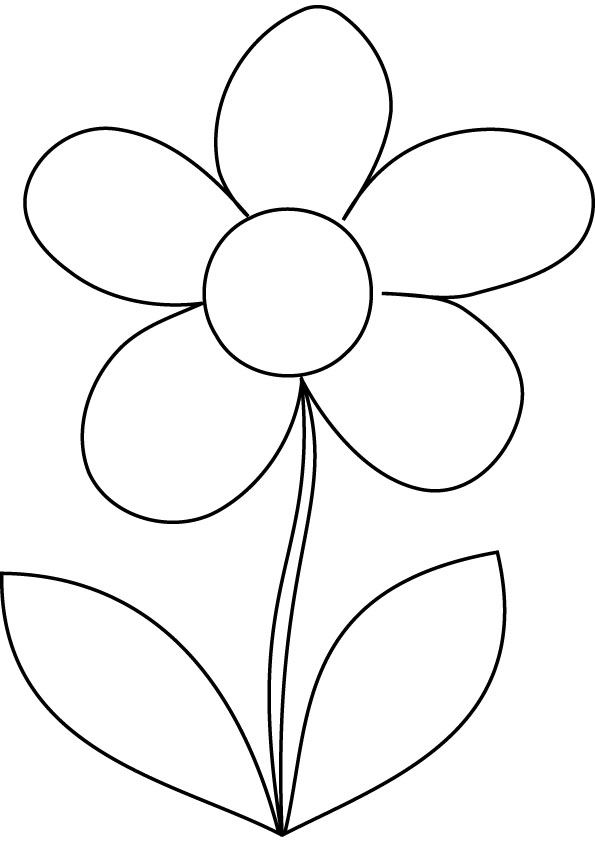 Download free daisy coloring page