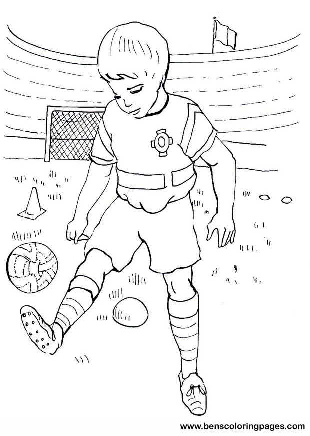soccer coloring sheet