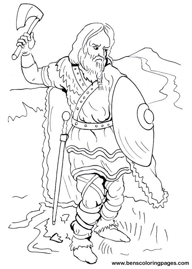 Frank warrior coloring page for free