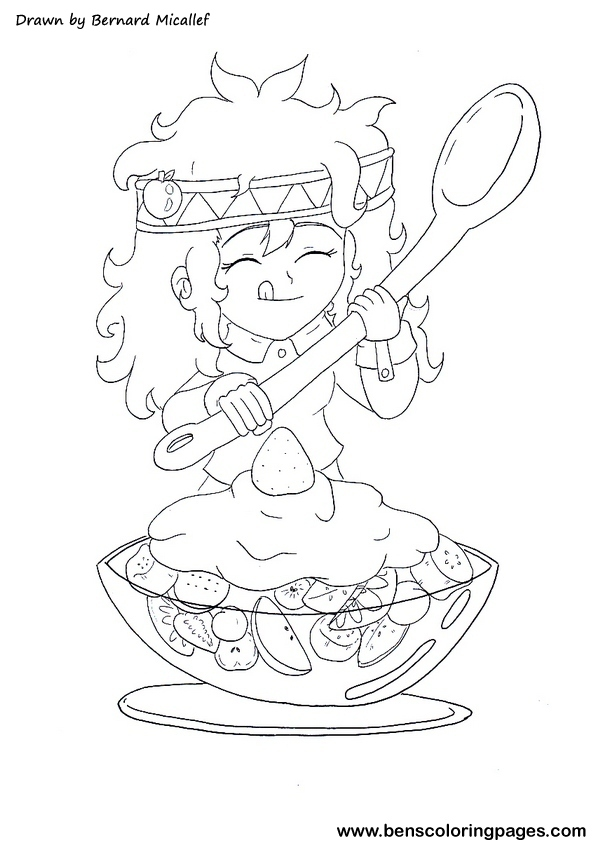 Galerry fruit salad coloring sheets