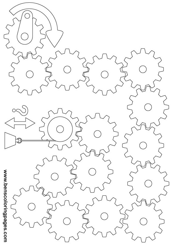Printable gears and pulleys exercise