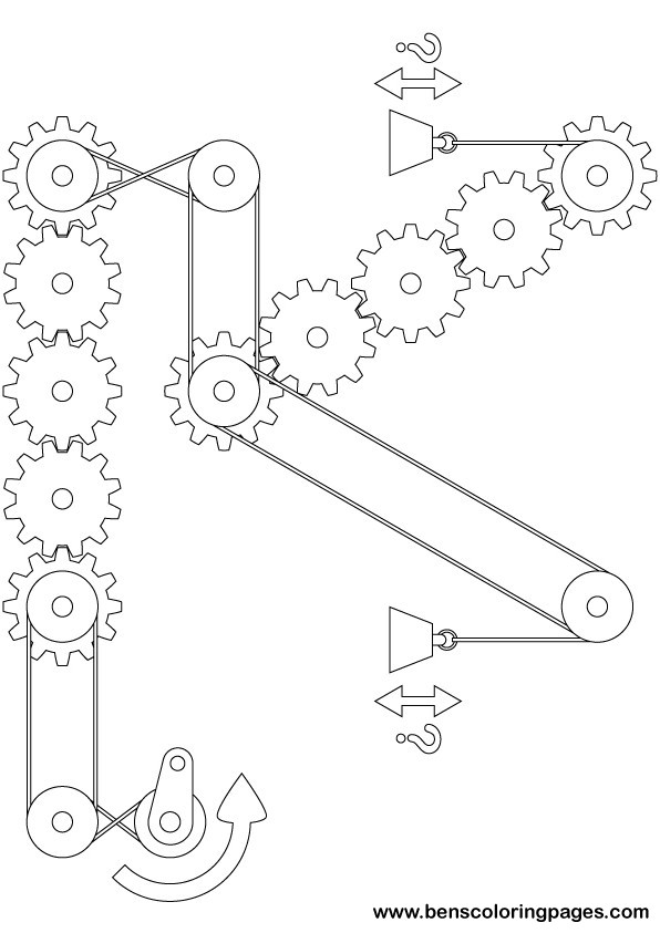Printable Goldberg complex gears and pulleys exercise