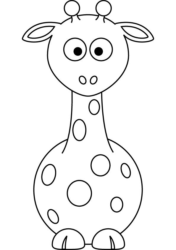 download free baby giraffe drawing page