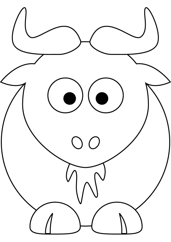 download free baby gnu drawing page