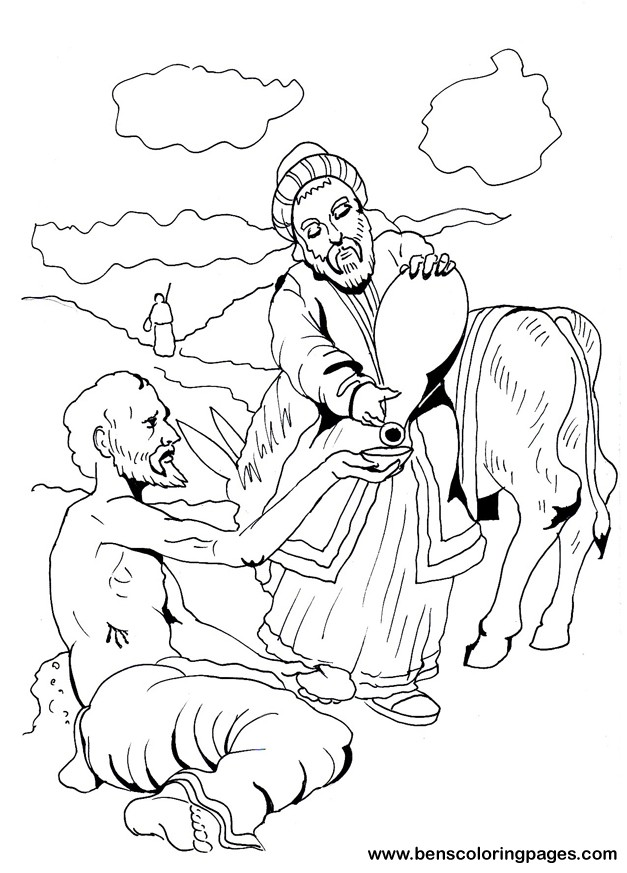 the good samaritan coloring page - Good Samaritan Coloring Page