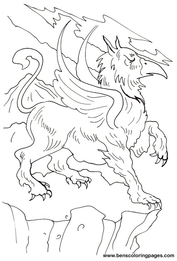 griffin free coloring sheet