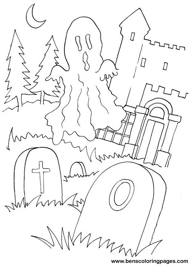 Halloween Ghost Free Coloring Pages