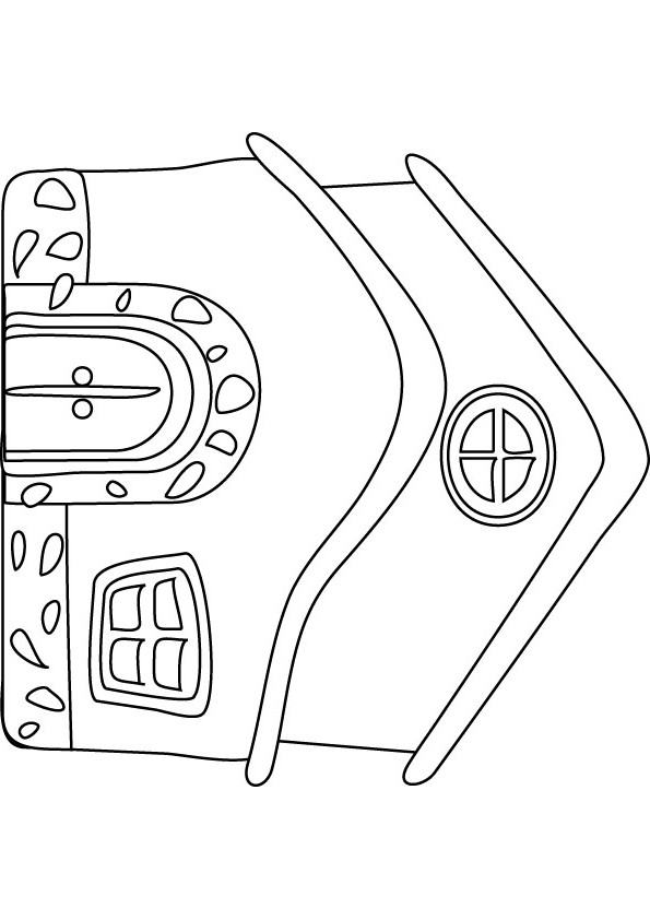 Coloring Pictures Of Houses On Fire Coloring Pages