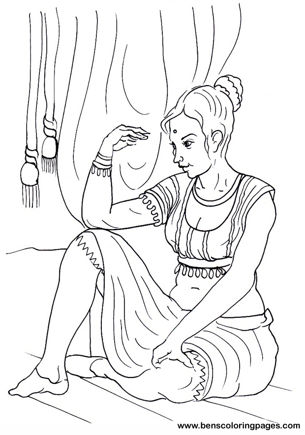 girl indian coloring pages related keywords suggestions for indian girl coloring page