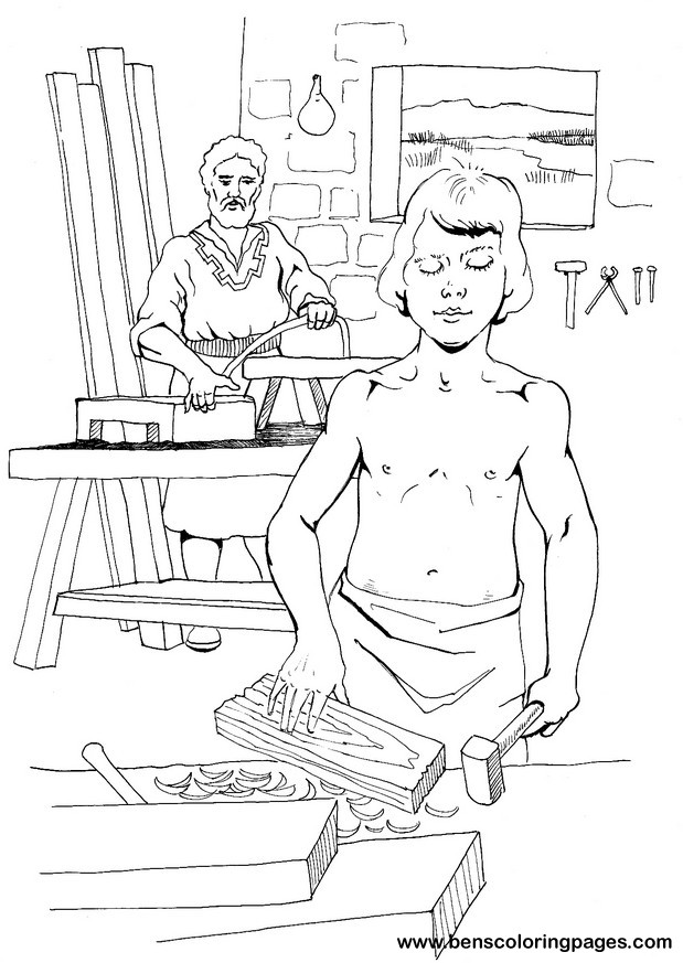 93 Coloring Pages Of Joseph The Carpenter