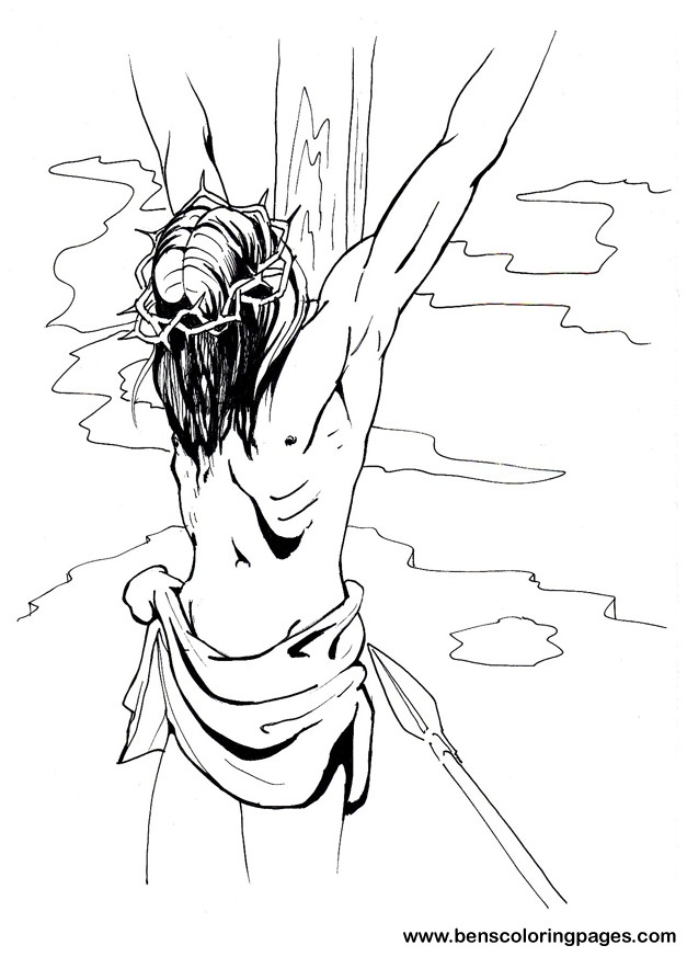 Jesus on the cross picture.