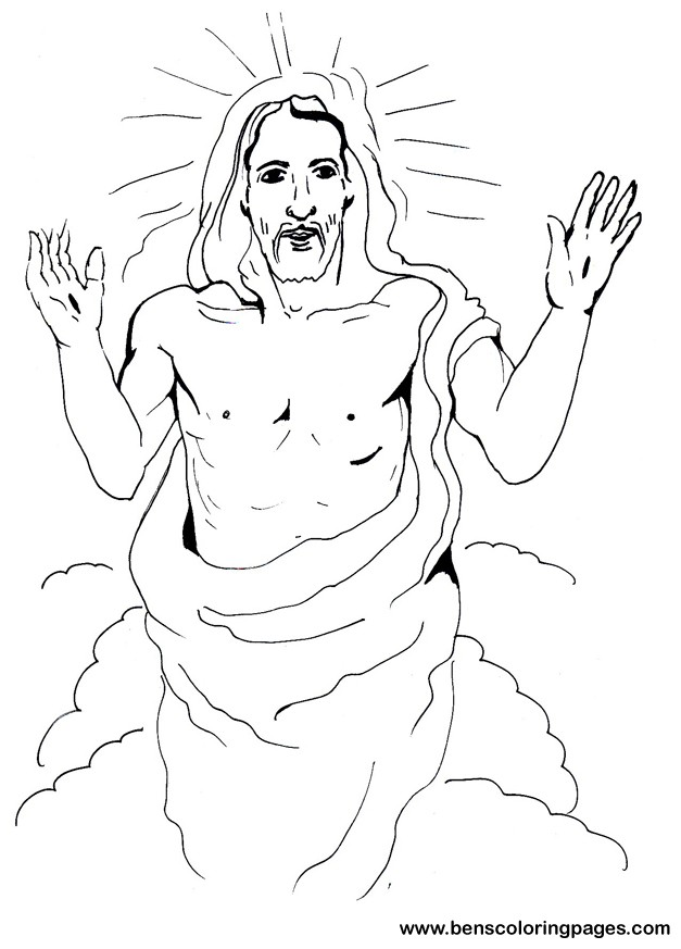 Jesus resurrection coloring page.