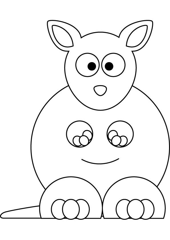 Download Baby Kangaroo Drawing