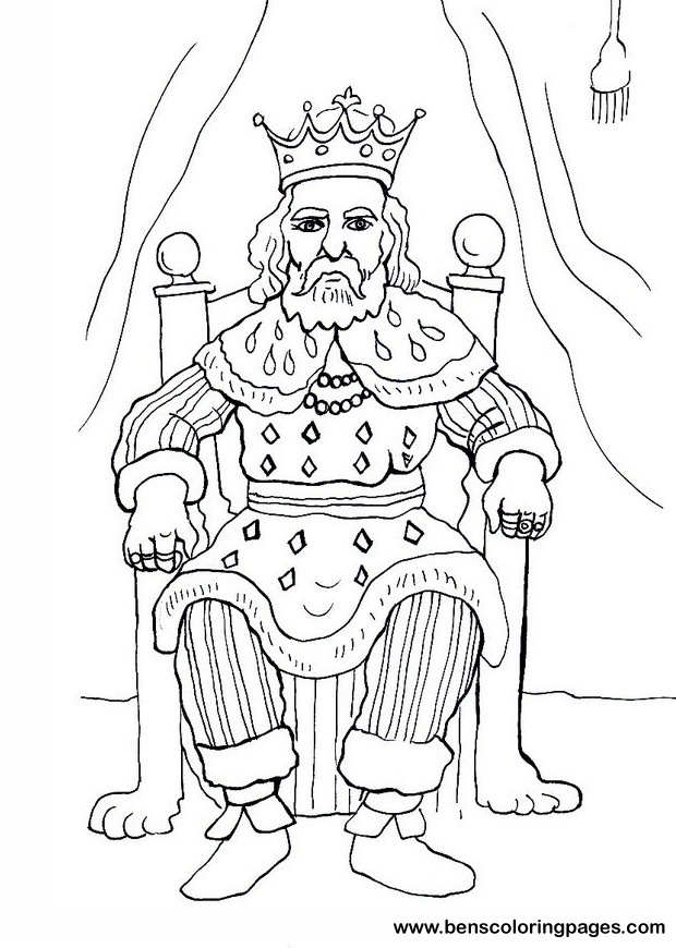 King Free Coloring Book King Coloring Pages