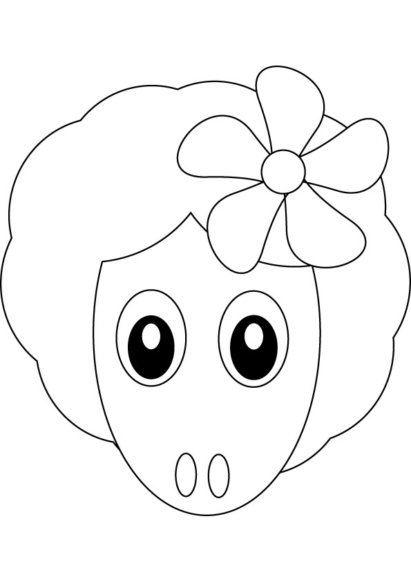 download little lamb drawing