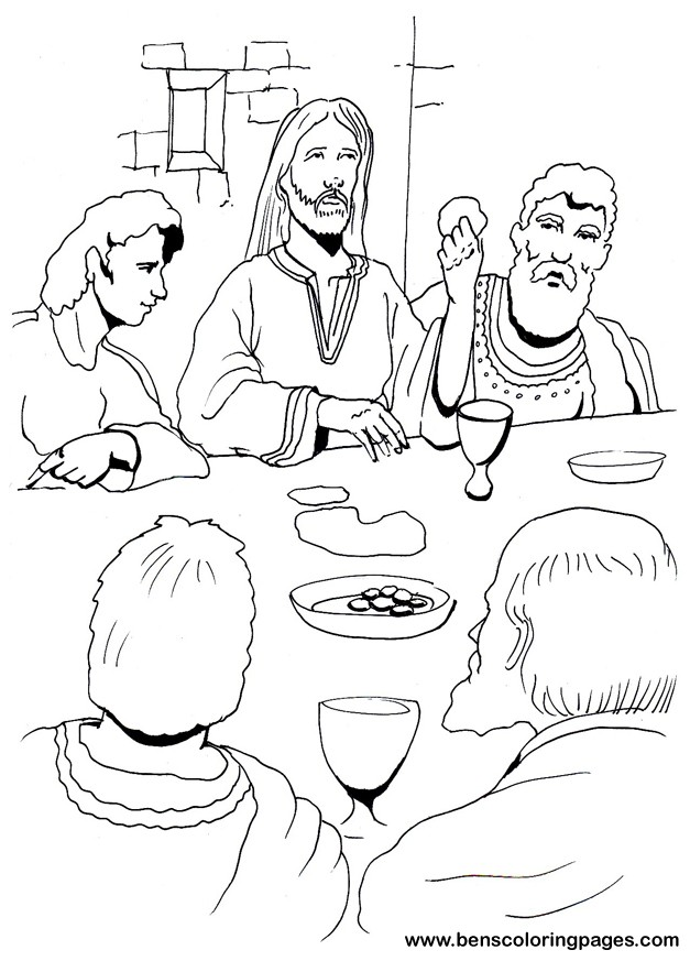 lords supper coloring pages - photo#7