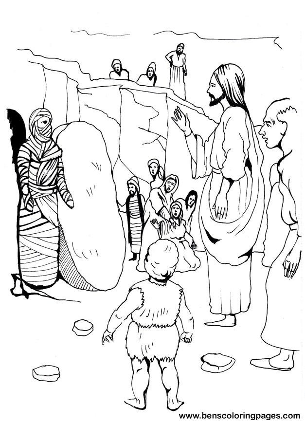 lazarus john 11 coloring page