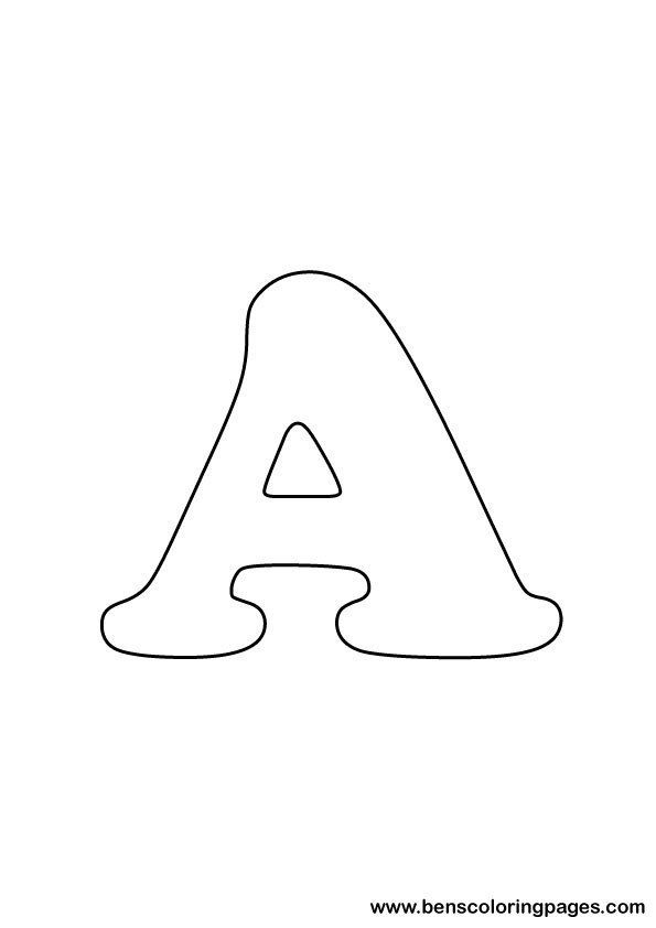 letter a drawings colouring pages