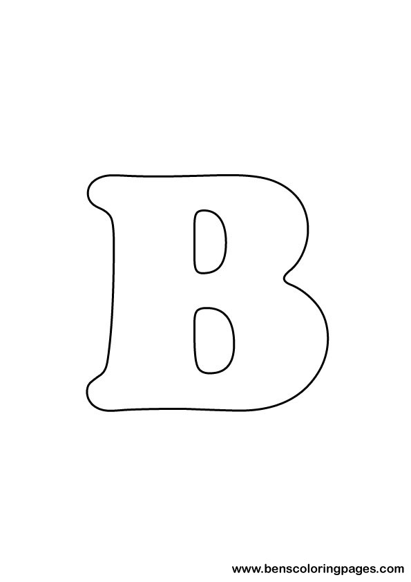 download letter B drawing