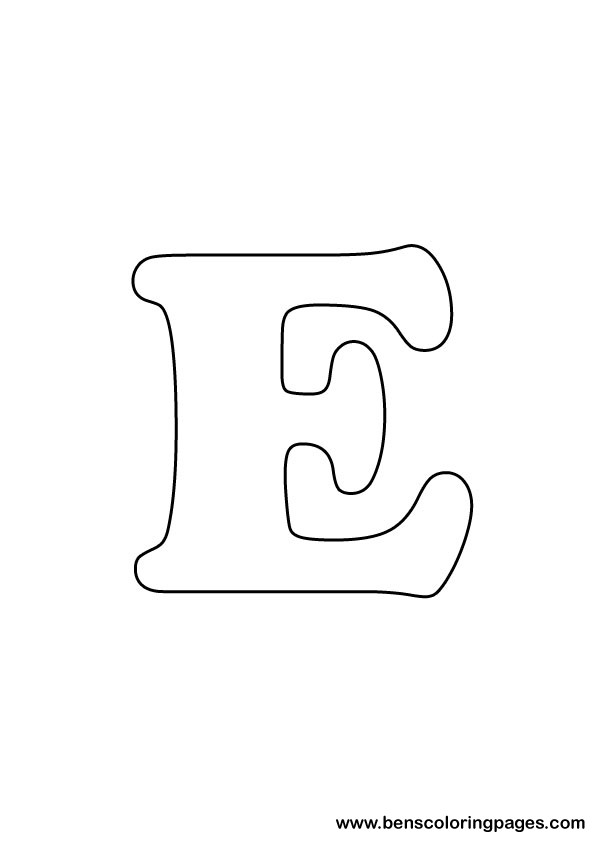 drawing letter e Colouring Pages