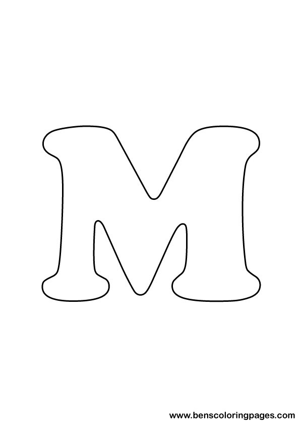 download letter M drawing
