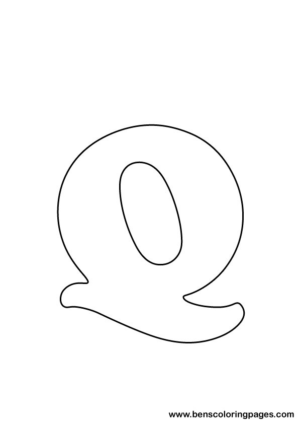 download letter Q drawing
