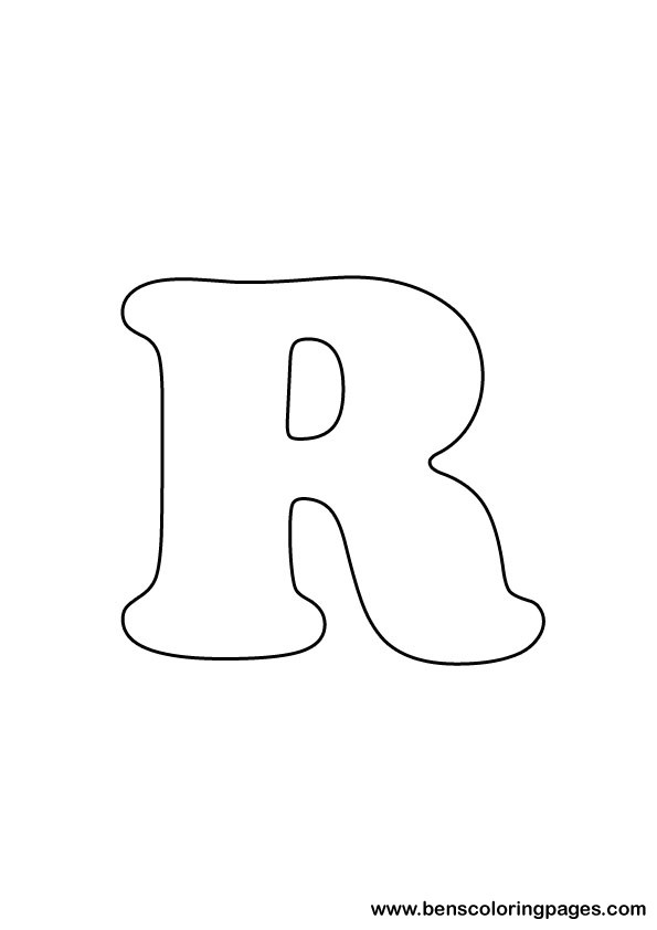 download letter R drawing