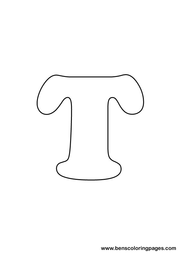 download letter T drawing