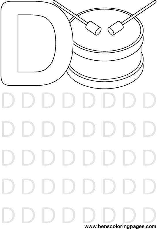 letter d coloring pages twisty noodle