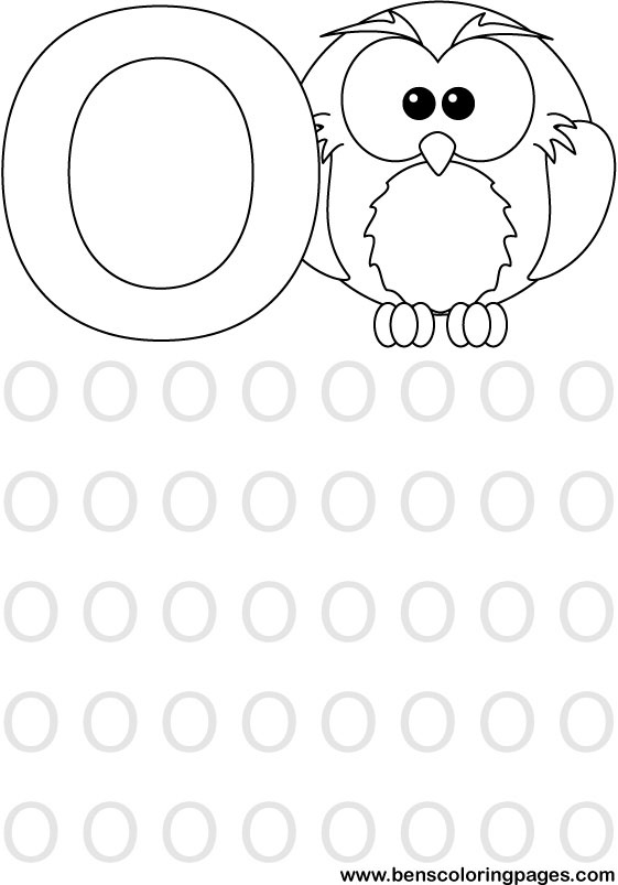 alphabet coloring picture for school