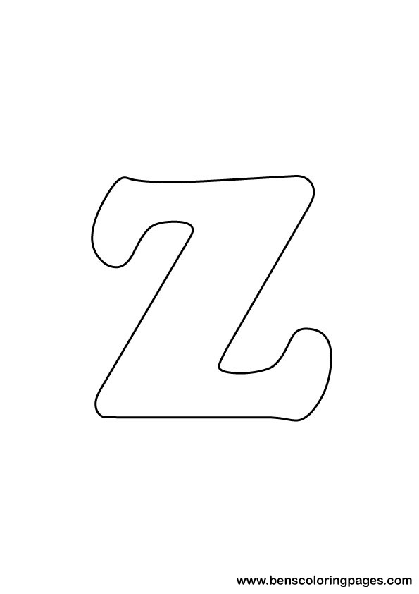the letter z coloring pages - photo#18