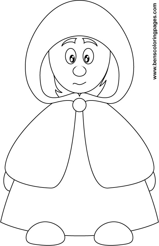 little red riding hood coloring for kids