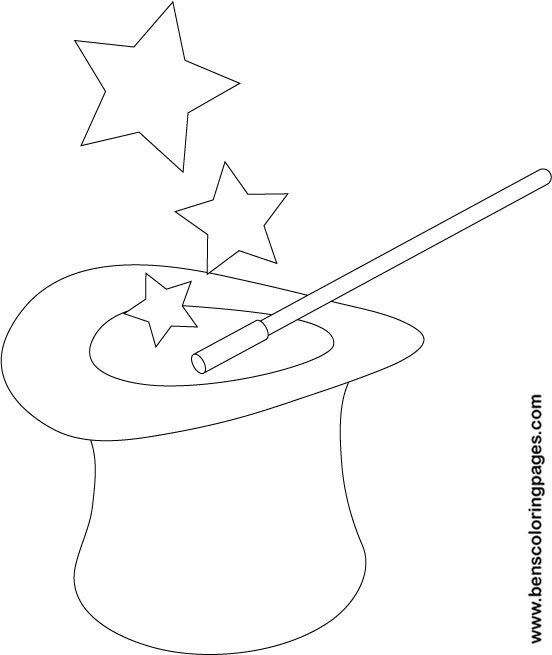 coloring pages magician - photo#24