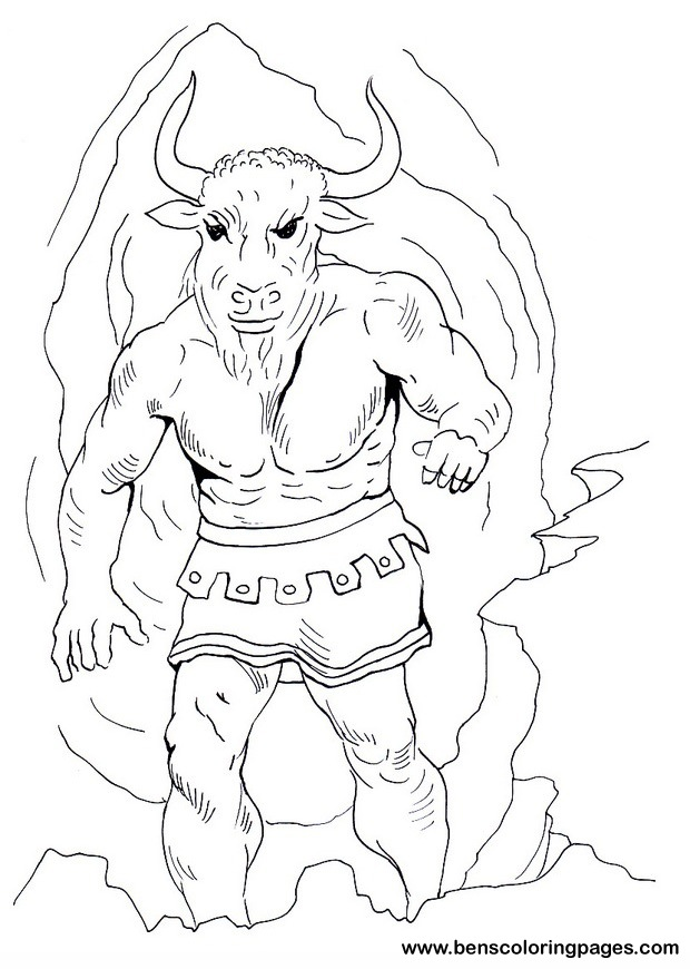 minotaur coloring pages - minotaur coloring pages for kids