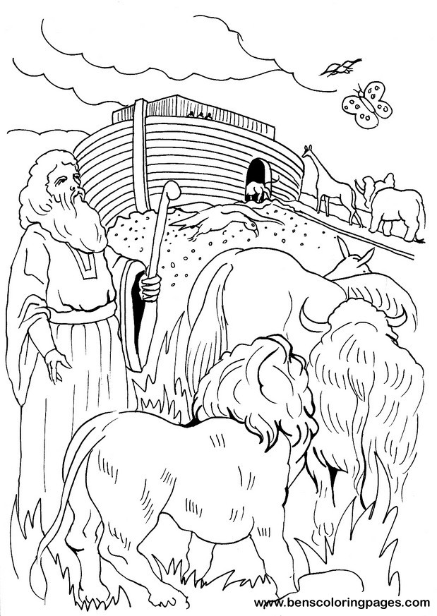 Noah and the ark coloring page for Noah s ark printable coloring pages
