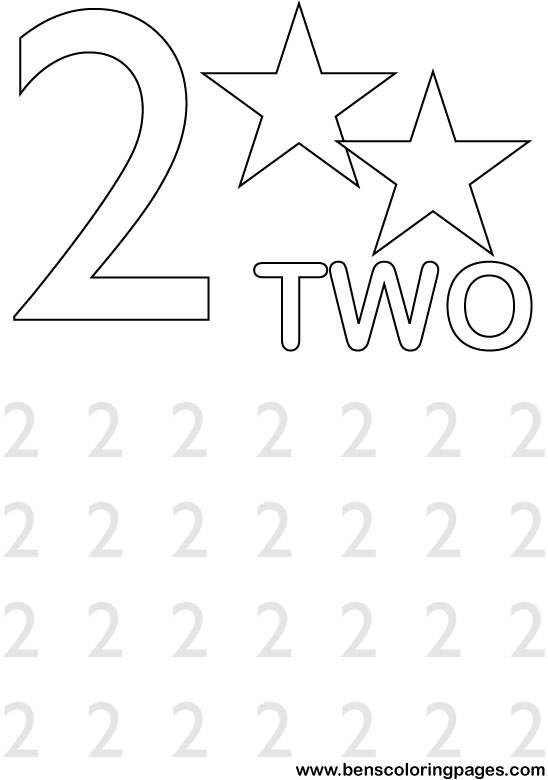 numbernumber 21 Colouring Pages