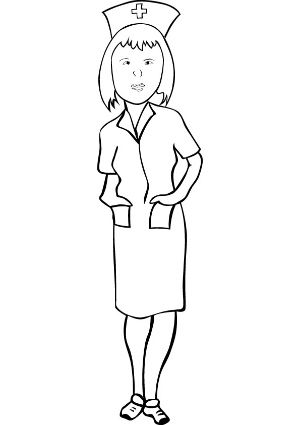 Nurse printable coloring pages - 55.9KB