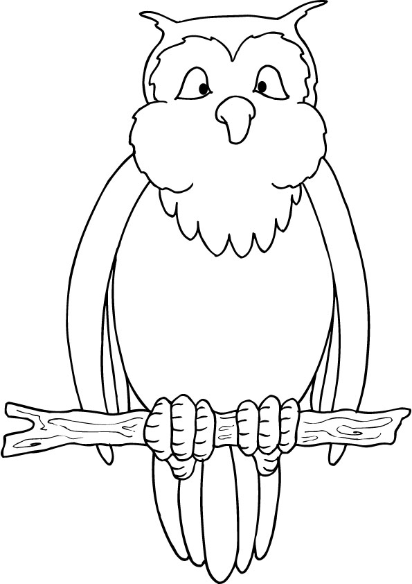 Free Coloring Pages Of Easy Owl
