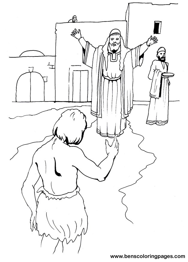 The Prodigal Son Coloring Page