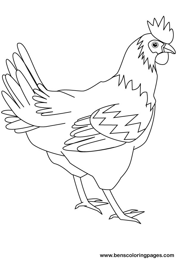 Red Hen Coloring Pages
