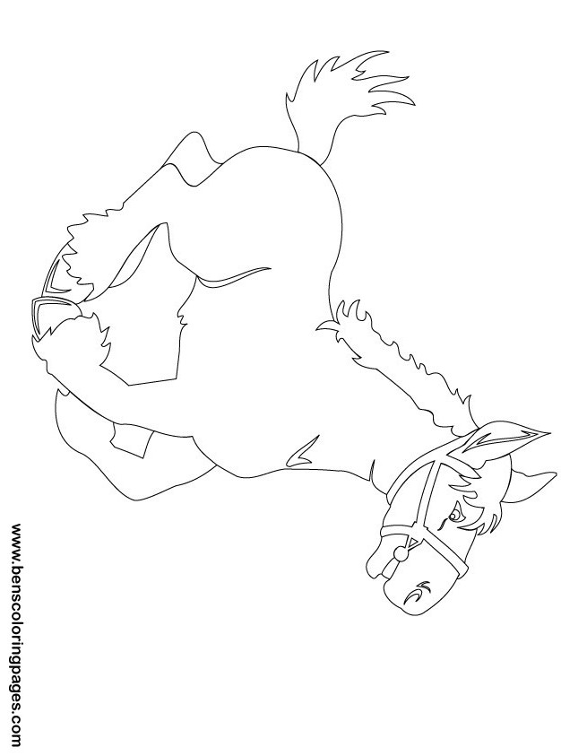 Free Christmas Horse Coloring Pages