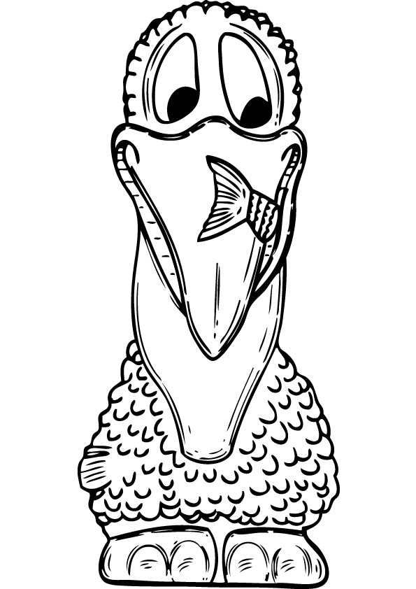 Pelican Coloring Page For Kids