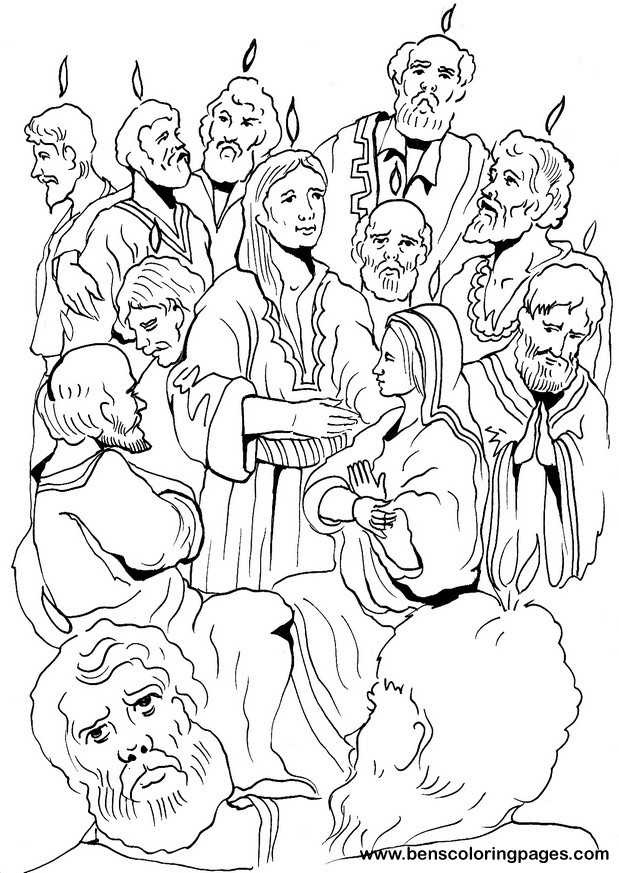 The Pentecost coloring page