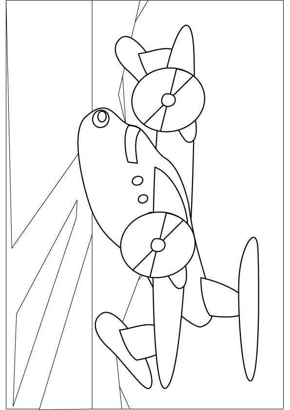 free coloring pages of passenger plane