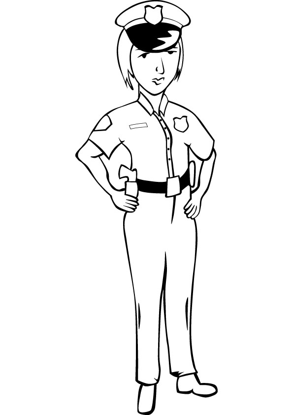 coloring pages of police officer - photo#21