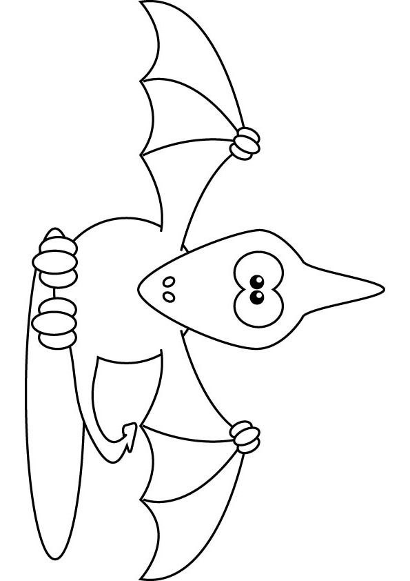 Fuzzy Dinosaur coloring pages for kids