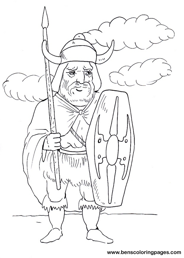 warrior coloring pages for kids - photo#24