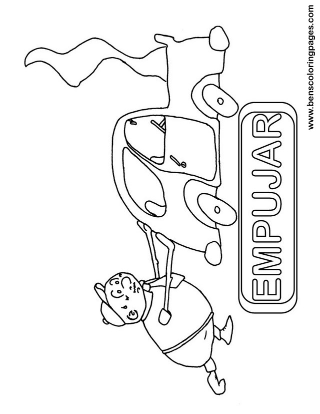 empujar coloring picture
