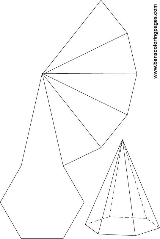 Pentagonal Pyramid Net Pentagonal pyramid net